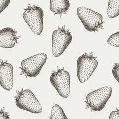 Vector strawberry seamless pattern background