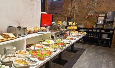 Hotel buffet breakfast