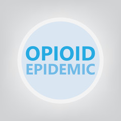 Opioid epidemic concept- vector illustration