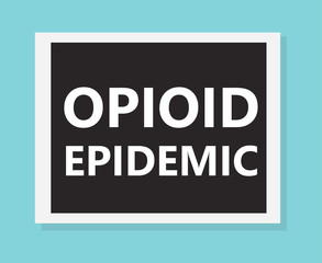 Opioid epidemic- vector illustration