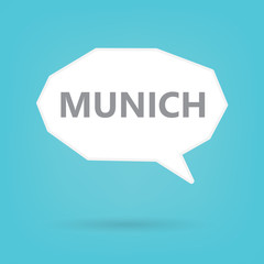 Munich word on a speech bubble- vector illustration