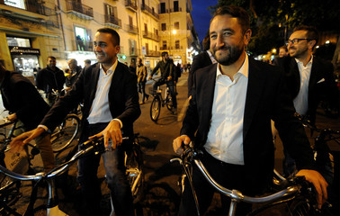 5-Star Movement Di Maio and Cancelleri meet media prior a rally for the regional election in Palermo