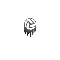 Brush volleyball symbol