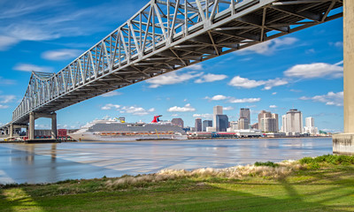 New Orleans Skyline from Mississippi River Trail Fotomurales