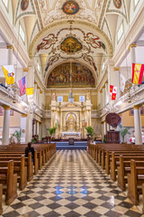 Interior of the St. Louis Cathedral in New Orleans, LA