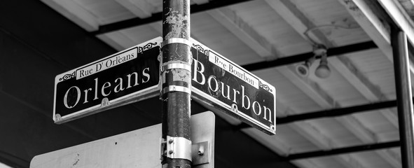 Bourbon Street Sign in New Orleans, LA Fotomurales