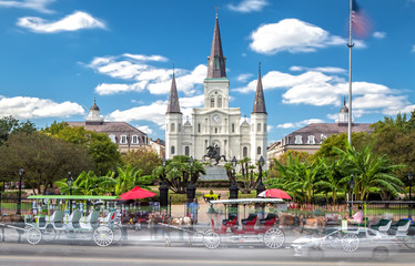 St. Louis Cathedral in New Orleans, LA Fotomurales