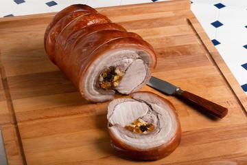 Schweine Rollbraten,gefüllt