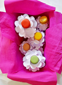 Colourful macroons