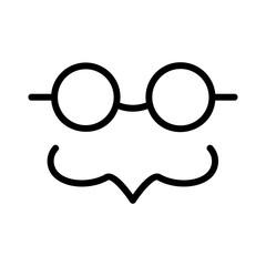 glasses   mustache    party
