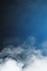 ice fog on blue background