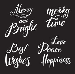Christmas lettering designs set