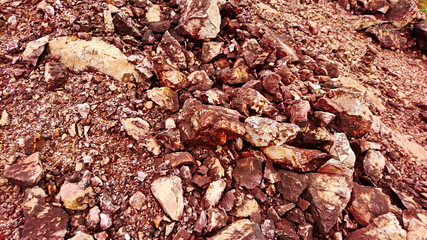 Shale rock sandstone red surface like mars