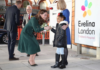 Britain's Prince William and Catherine, the Duchess of Cambridge, arrive at Evelina London Children's Hospital in London