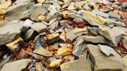 Shale rock sandstone red surface like mars
