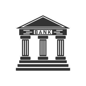 Bank icon flat