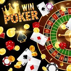 Casino, gambling and poker, roulette wheel
