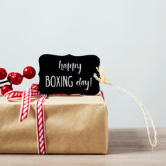 gift and text happy boxing day
