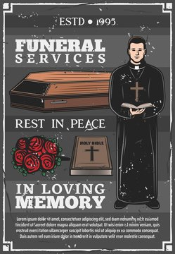 Funeral service, mortuary burial ceremony agency