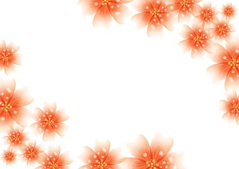 Luxury bright colors for floral decoration for invitation cards, wedding, banners, sales, brochure cover design