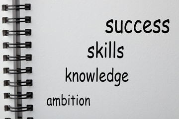 Success Skills Knowledge Ambition