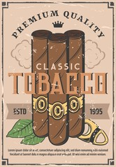 Cigars production and tobacco factory shop