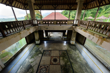 Bali, Indonesia - 22 Nov 2018: PI Bedugul Taman Rekreasi Hotel & Resort is an large abandoned structure in Bedugul, today a tourist attraction in Bali, Indonesia.