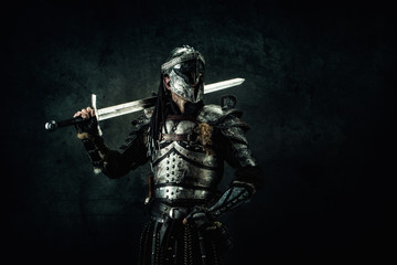 Portrait of a medieval fighter