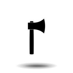 Axe Icon Vector. Simple flat symbol. Illustration pictogram