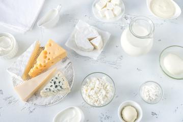 Poster de jardin Produit laitier Assortment of dairy products