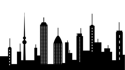 City scape silhouette icon. Element of cityscapes illustration. Signs and symbols icon can be used for web, logo, mobile app, UI, UX