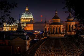 Vatican City, Saint Peter's Basilica from Rome