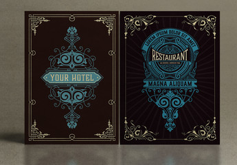 2 Vintage-Style Poster Layouts