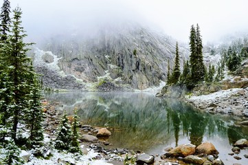 Winter Alpine Lake