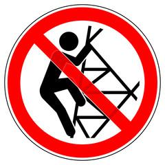 srr494 SignRoundRed - german - Verbotszeichen: Strommast - Nicht hochsteigen / klettern / Hochspannung (Freileitungsmast) - english - prohibition sign - do not climb - high voltage - red xxl - g6854