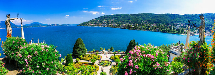 "Lago Maggiore - beautiful ""Isola bella"" with ornamental floral gardens. Northen Italy"