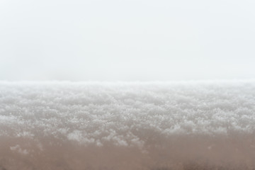 snow surface close-up as background