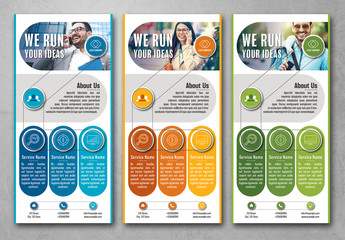 Flyer Layout in Three Colors