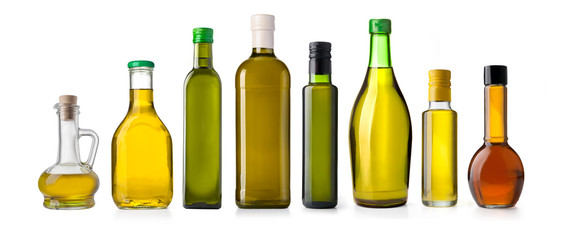 oil olive bottle isolated