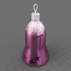 Christmas tree ornament with stars