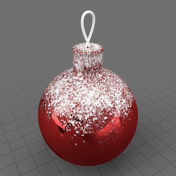 Snowy Christmas tree ornament