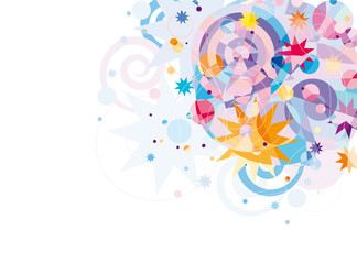 bright decorative background for cards