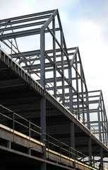 Frame Metal Construction Building Shopping Centre Development