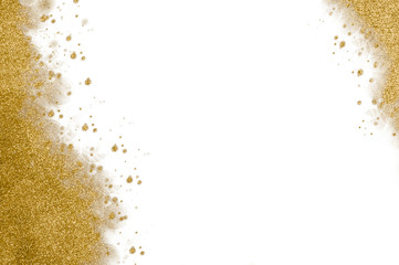 Golden glitter Christmas background concept for seasonal greetings
