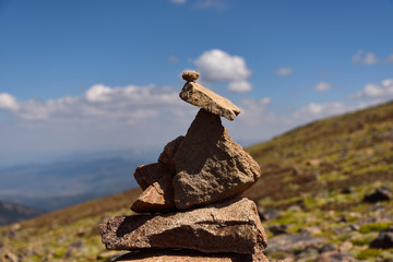 Cairn on Mount Flora in Colorado