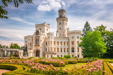 Chateau Hluboka with a beautiful park in the foreground, Czech republic, Europe. Wall mural