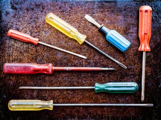 Variety of screwdrivers