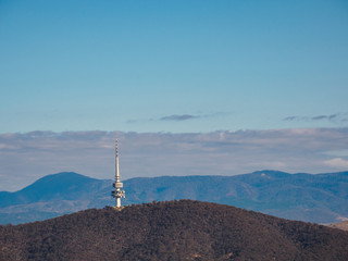 Telstra tower in the Black Mountains, Canberra