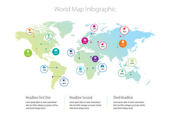 World Map Infographic Layout