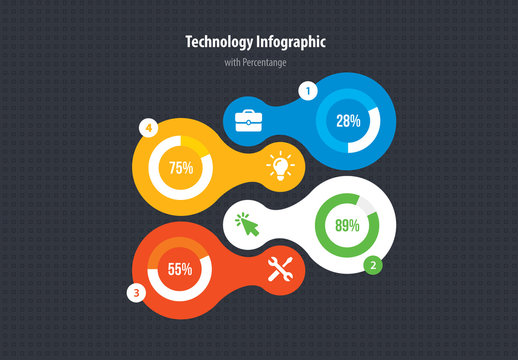 Infographic Layout with Circular Components